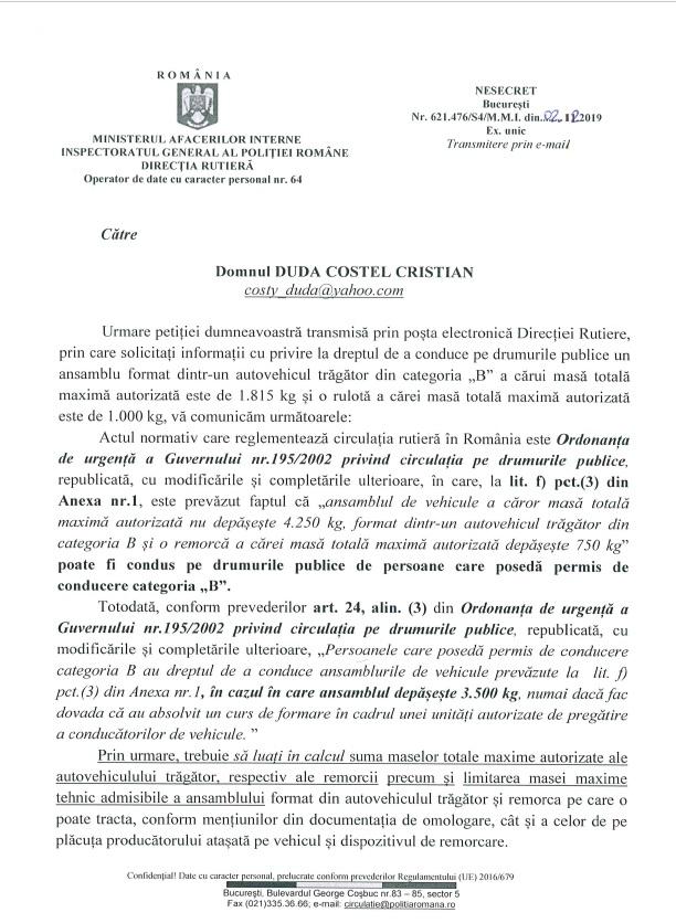 scrisoare politia rutiera 1
